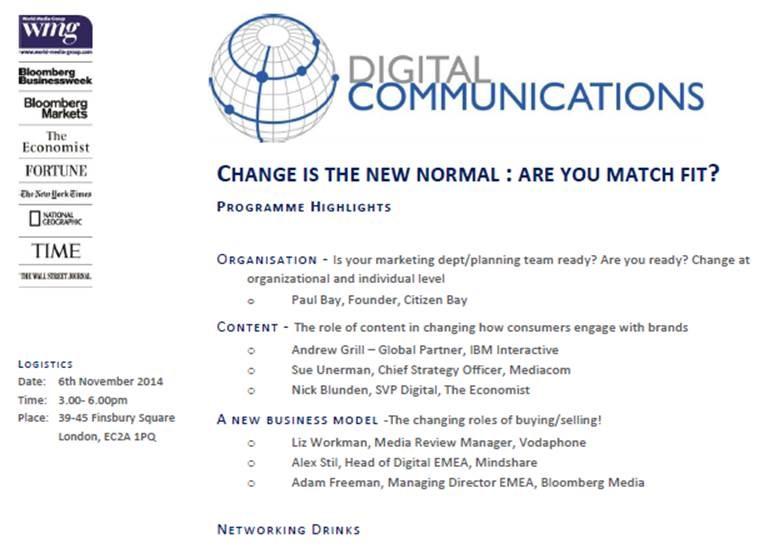 Digital Communications @ Bloomberg HQ | London | United Kingdom