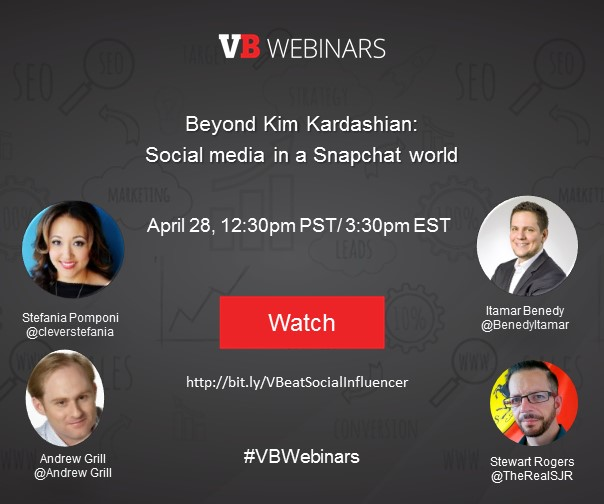 Webinar: Social media in a Snapchat world @ Online