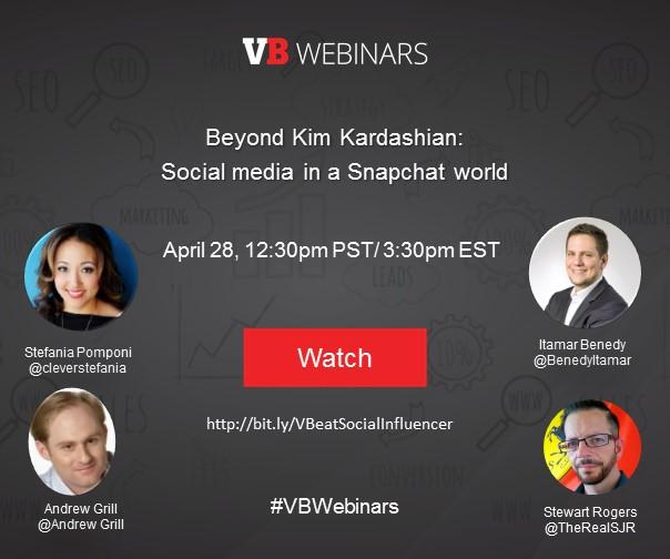 Webinar: Social media in a Snapchat world @ Online