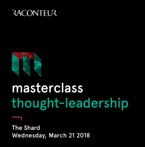 Raconteur Masterclass - Creating Thought Leaders @ 24/25 The Shard | England | United Kingdom