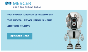 Mercer: The Digital Revolution and the future of the workplace - Manchester @ Manchester Airport Hilton | England | United Kingdom